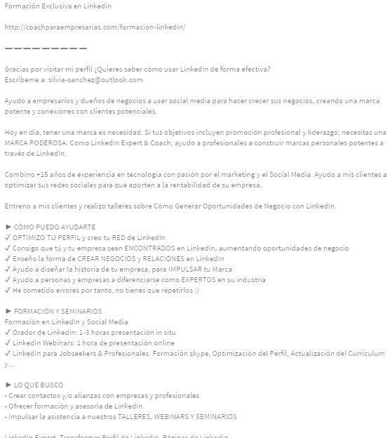 Extracto De Linkedin Profesional Guia Video Ejemplos Modelo