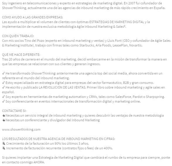 Extracto de LinkedIn Profesional GUÍA [+VÍDEO] | EJEMPLOS | MODELO